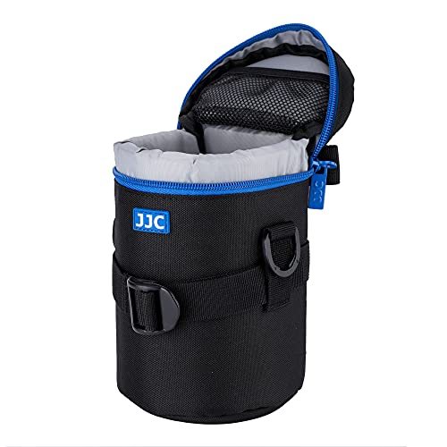 "JJC Water Resistant Deluxe Lens Pouch with Shoulder Strap fits Lens Diameter and Height below 80 x 170mm (3.1 x 6.7"") from JJC"