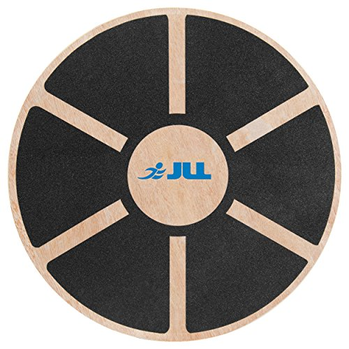 JLL® Wooden Balance Board, ANTI SLIP SURFACE, Exercise Fitness Workout Rehabilitation Training Exercise Wobble Board from JLL