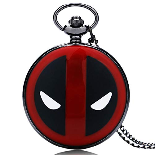 Boy's Pocket Watch, Deadpool Pocket Watch with Necklace Chain, Gift for Men - JLySHOP from JLySHOP