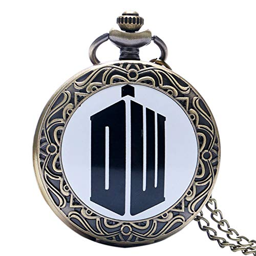 Boy's Pocket Watch, Doctor Who Design Pendant Necklace Pocket Watch, Best Birthday New Year Gift for Men - JLySHOP from JLySHOP