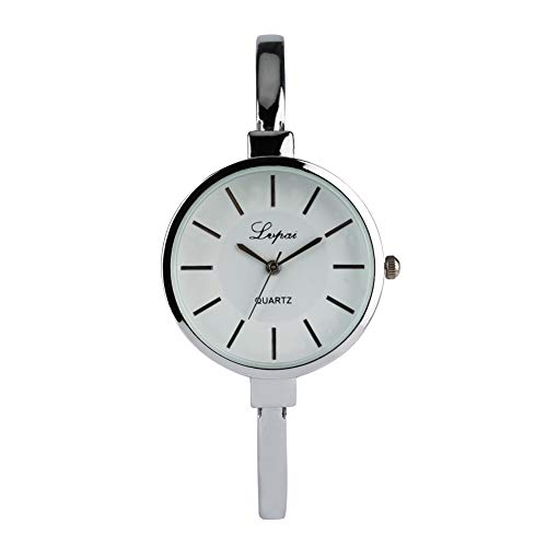 Fashion Bracelet Watch for Woman, Luxury Stainless Steel Bracelet Wrist Watches for Lady, Silver Strap White Dial Quartz Bracelet Watches for Girl- JLySHOP from JLySHOP