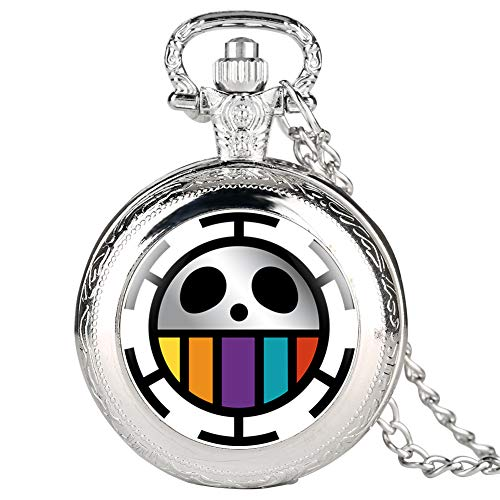 Fine Chain Silver Pocket Watch for Kids, Interesting Pattern Quartz Pocket Watch for Students, Arabic Digital Pocket Watches - JLySHOP from JLySHOP
