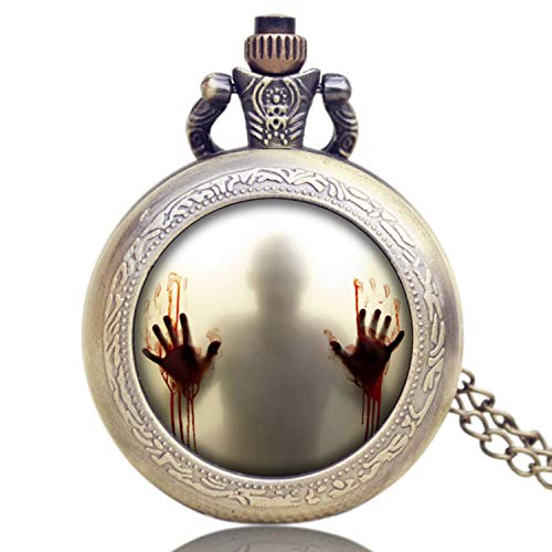 Men's Pocket Watch, Walking Dead Theme Quartz Pocket Watches, Unique Halloween Day's Gift for Men from JLySHOP