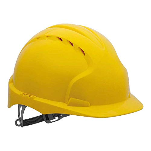 EVO2 Safety Helmet with Slip Ratchet - Yellow - Vented (JSP AJF030-000-200) from JSP