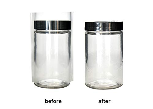 Clear Plastic NON-Perforated Shrink Bands for Jar/Pot Caps 2 SIZE CHOICES *127 x 105 Fits (71-77) mm Diameter Pack of 25 from JTshop