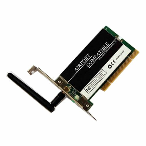 Airport Extreme Compatible Wireless PCI Card For Apple PowerMac G3, G4, G5 (selected models only) from JUSTOP
