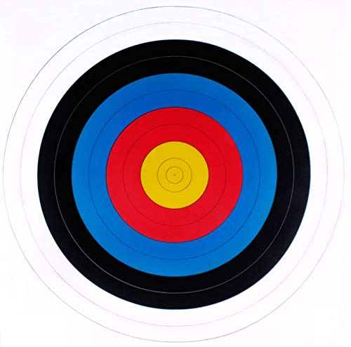 Bulk 80cm FITA Archery Target Reinforced Paper Foam Straw Target 10 25 50 Recurve (x 25 Qty) from JVD
