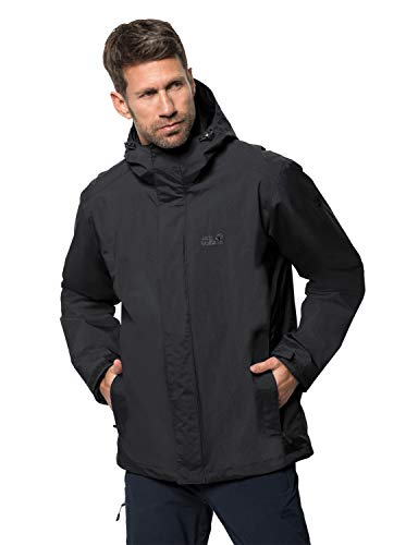 Jack Wolfskin Men's Iceland 3-in-1 Jacket, Black (Black), S from Jack Wolfskin