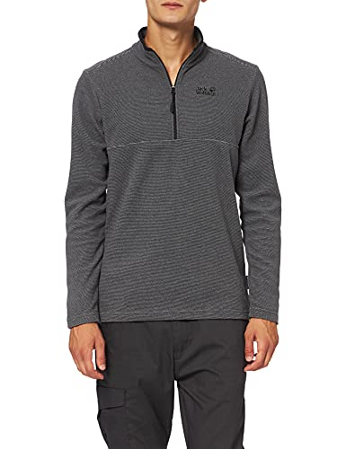Jack Wolfskin Men's Arco Pullover, Black Stripes, Large from Jack Wolfskin