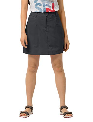 Jack Wolfskin Sonara Skort, lightweight women's skirt for travel and leisure, bi-elastic and quick-drying pants skirt with secret pocket, skirt and shorts in one, phantom, 42 (US 33/32) from Jack Wolfskin