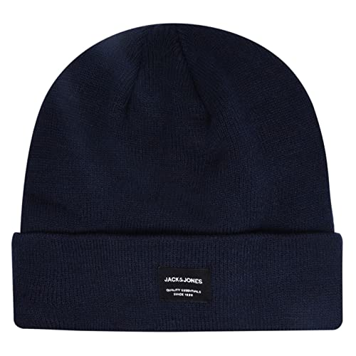 JACK & JONES Men's JJDNA BEANIE NOOS Beanie, Blue (Navy Blazer), One size from Jack & Jones