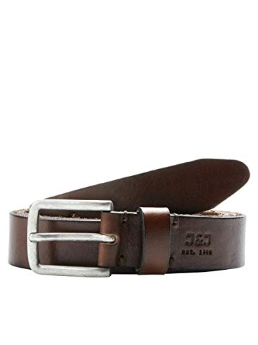 JACK & JONES Men's JJILEE LEATHER BELT NOOS Belt, Brown (Black Coffee), 90 cm (Manufacturer size: 90) from Jack & Jones
