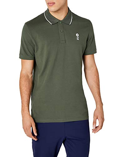 Jack & Jones Men's Jcostone Polo Ss Noos Shirt, Green (Thyme Fit:reg), Small from Jack & Jones