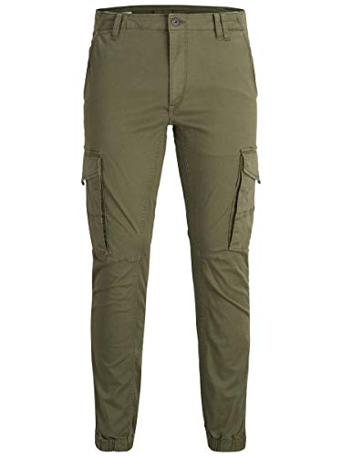 JACK & JONES Men's Jjipaul Jjflake Akm 542 Olive Night Noos Trouser, Green (Olive Night), 34W 32L UK from Jack & Jones