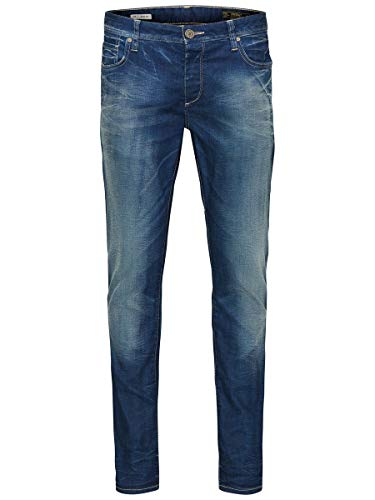 Jack and Jones Men's Tim Original Slim Jeans, Blue (Medium Blue Denim), 32W x 30L from Jack & Jones