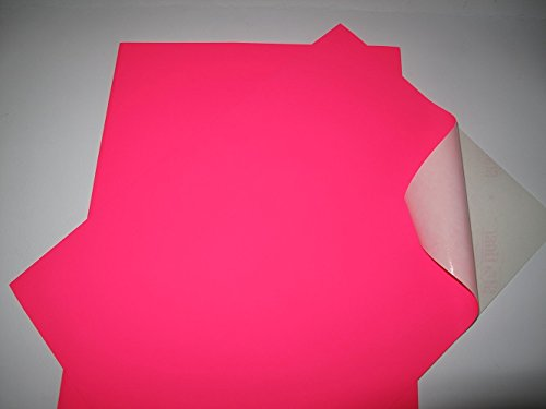 20 Sheets A4 Self Adhesive Split Back Pink Flourescent Paper AM393 from Jackdaw Express
