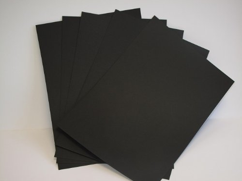 25 x A4 Raven Black Card 270gsm - Ideal for Cardmaking & Scrapbooking from Jackdaw Express