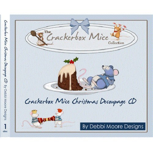 Debbi Moore Crackerbox Mice Christmas Decoupage CD ROM (296825) from Jackdaw Express