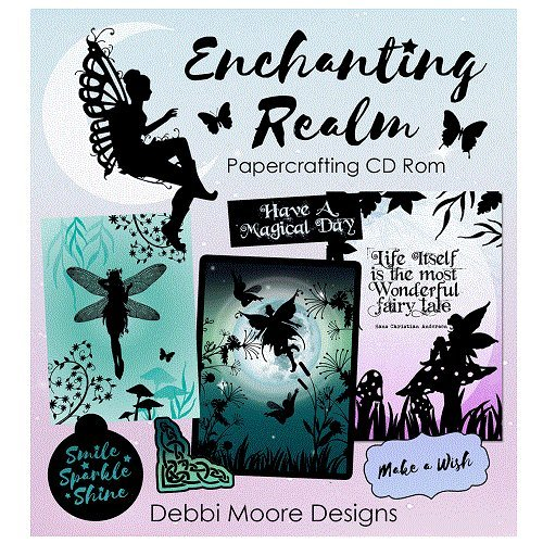 Debbi Moore Designs Enchanting Realm Papercrafting CD Rom (328628) from Jackdaw Express