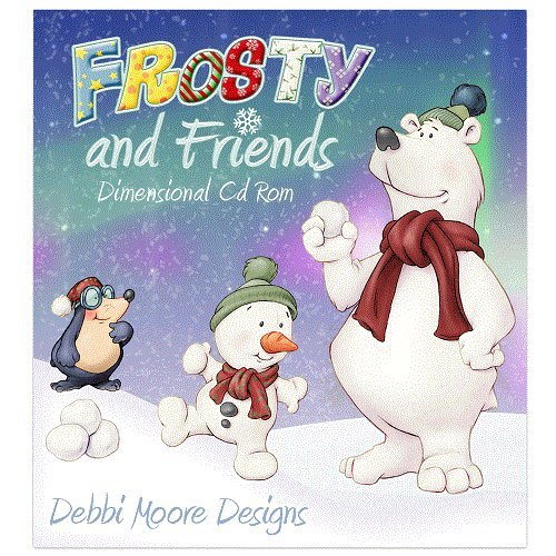 Debbi Moore Frosty and Friends Dimensional Papercrafting CD ROM (328154 from Jackdaw Express