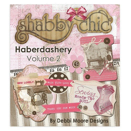 Debbi Moore Shabby Chic Haberdashery Volume 2 CD ROM (327621) from Jackdaw Express