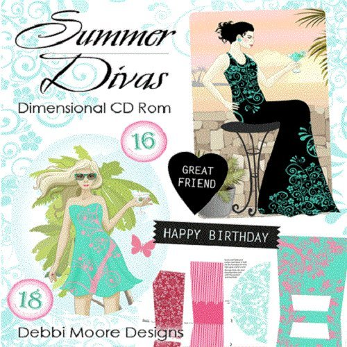 Debbi Moore Summer Divas Dimensional CD ROM (327829) from Jackdaw Express
