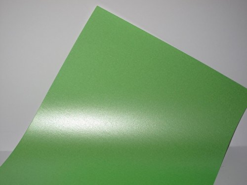 Lime Green Pearlescent Shimmer A4 90gsm 1-Sided Paper x 25 Sheets for Cardmaking & Crafts from Jackdaw Express