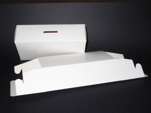 Money Box - Self Assembly Flat Pack Pre-glued White Cardboard x 5 AM336 from Jackdaw Express