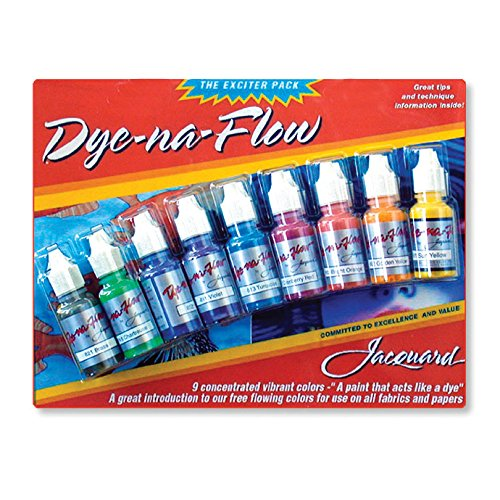 Jacquard Products Jacquard Dye-Na-Flow Exciter Pack 0.5 oz (pack of 9) from Jacquard