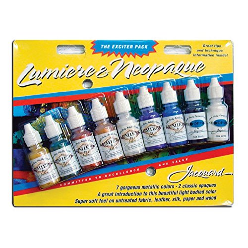 Jacquard Products Lumiere/Neopaque Pack, 0.5 oz (pack of 9) from Jacquard