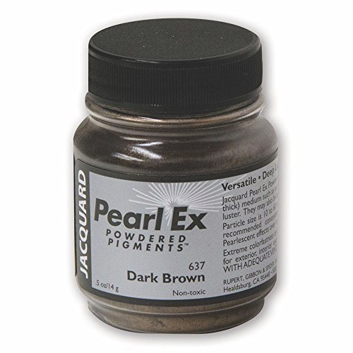 Jacquard Products Powder Pearl Ex Powdered Pigment 14 g-Dark Brown from Jacquard