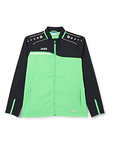 JAKO Men's Präsentationsjacke Competition 2.0 Presentation Jacket, Soft Green/Black, 4XL from JAKO