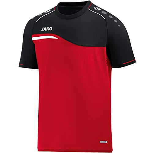 JAKO Men's Competition 2.0 T-Shirt, Red/Black, S from JAKO