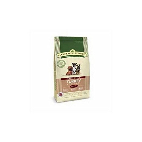 James Wellbeloved Dog Food Turkey and Rice Adult Small Breed (1.5kg) from James Wellbeloved