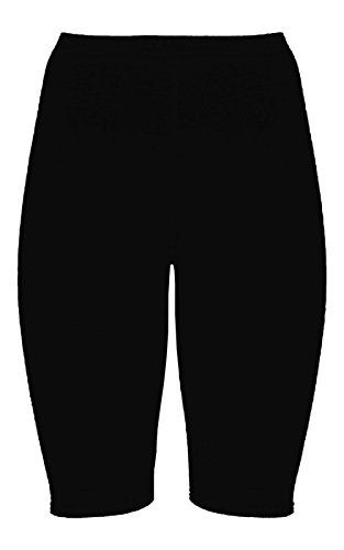 janisramone Womens Ladies New Plain Stretchy Basic Dance Over Knee Active Gym Sports Cycling Shorts Black from janisramone