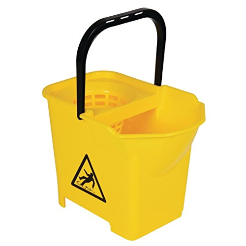 Jantex Colour Coded Mop Bucket Yellow 14Ltr (16Ltr Max) Floor Cleaning from Jantex