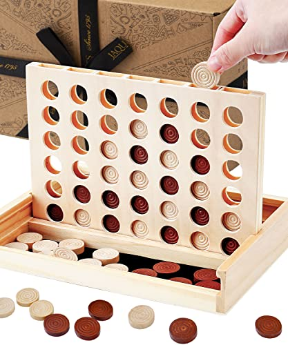 Jaques of London Classic Score 4 Have Wonderful Family Fun with a Score 4 game- Handmade Wooden Games Since 1795 from Jaques of London
