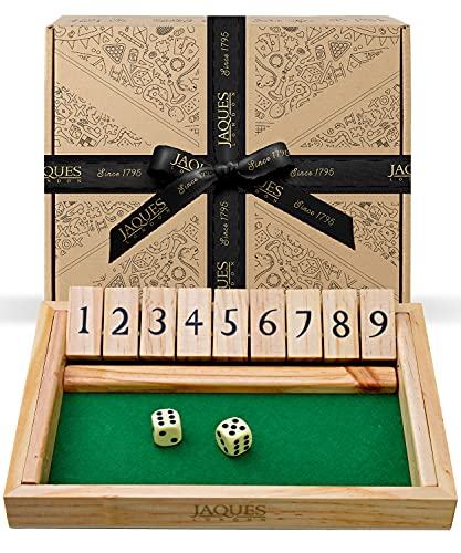 Shut the Box Dice Game - Premium Luxury 9 Numbers - Jaques of London Dice Games Since 1795 from Jaques of London