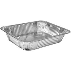 Jena 12 Large Foil Trays with Lids, Silver, 312mm x 252mm x 61mm from Jena