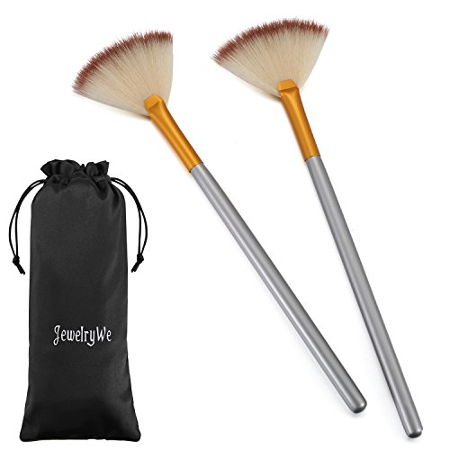 JewelryWe Pack of 2 Fan Mask Brushes Acid Applicator for Glycolic Peel/Masques from JewelryWe