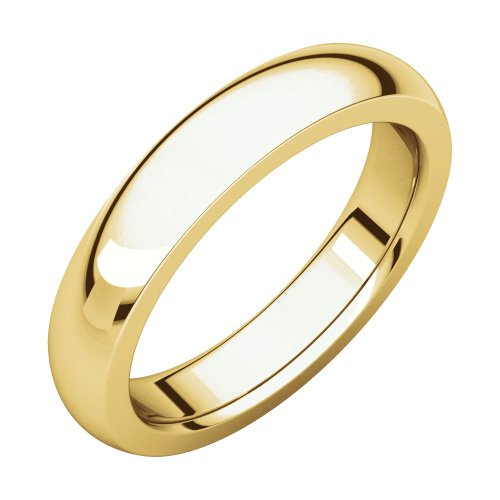 14ct Yellow Gold 4mm Heavy Comfort Fit Band Ring Size R 1/2 Jewelry Gifts for Women from JewelryWeb