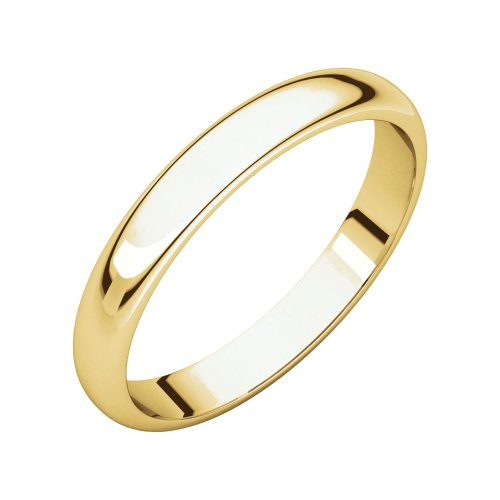 14ct Yellow Gold 4mm Light Half Round Band Ring Size P 1/2 Jewelry Gifts for Women from JewelryWeb