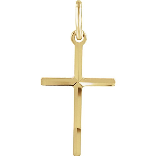 14ct Yellow Gold Religious Faith Cross Pendant Necklace 15.5x1mm Jewelry Gifts for Women from JewelryWeb