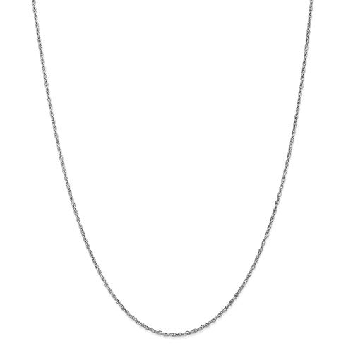 1.5mm 14ct White Gold Pendant Rope - 41 Centimeters from JewelryWeb