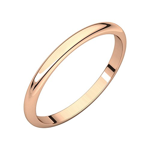 14ct Rose Gold 1mm Half Round Band Ring Size H Jewelry Gifts for Women from JewelryWeb