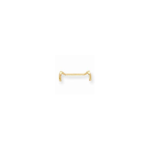 14ct Yellow Gold Ladies Ring Guard from JewelryWeb