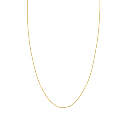 14ct Yellow Gold Lite Snake Chain Necklace 1mm Lobster Claw Closure - 46 Centimeters from JewelryWeb