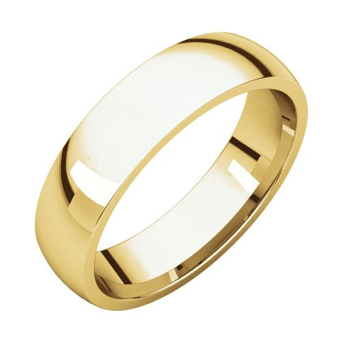 18ct Yellow Gold 5mm Polished Light Comfort Fit Band Ring Size N 1/2 Jewelry Gifts for Women from JewelryWeb
