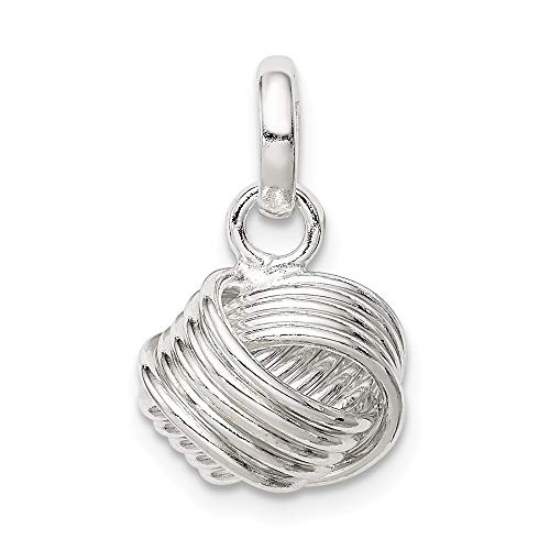 Sterling Silver Love Knot Small Pendant from JewelryWeb