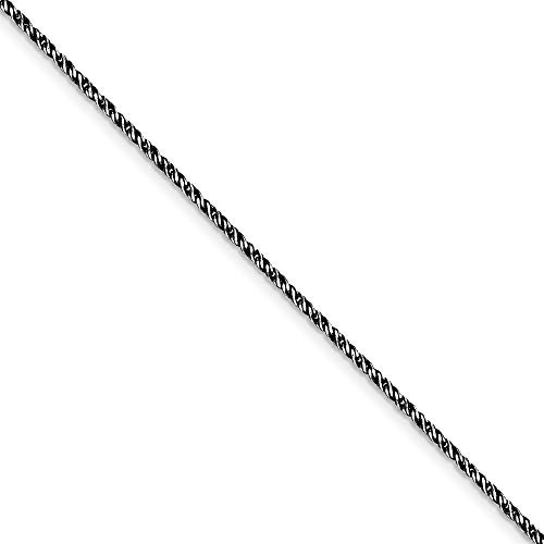 925 Sterling Silver Ruthenium plated 1.7mm Fancy Sparkle Cut Snake Chain Bracelet Jewelry Gifts for Women - 18 Centimeters from JewelryWeb
